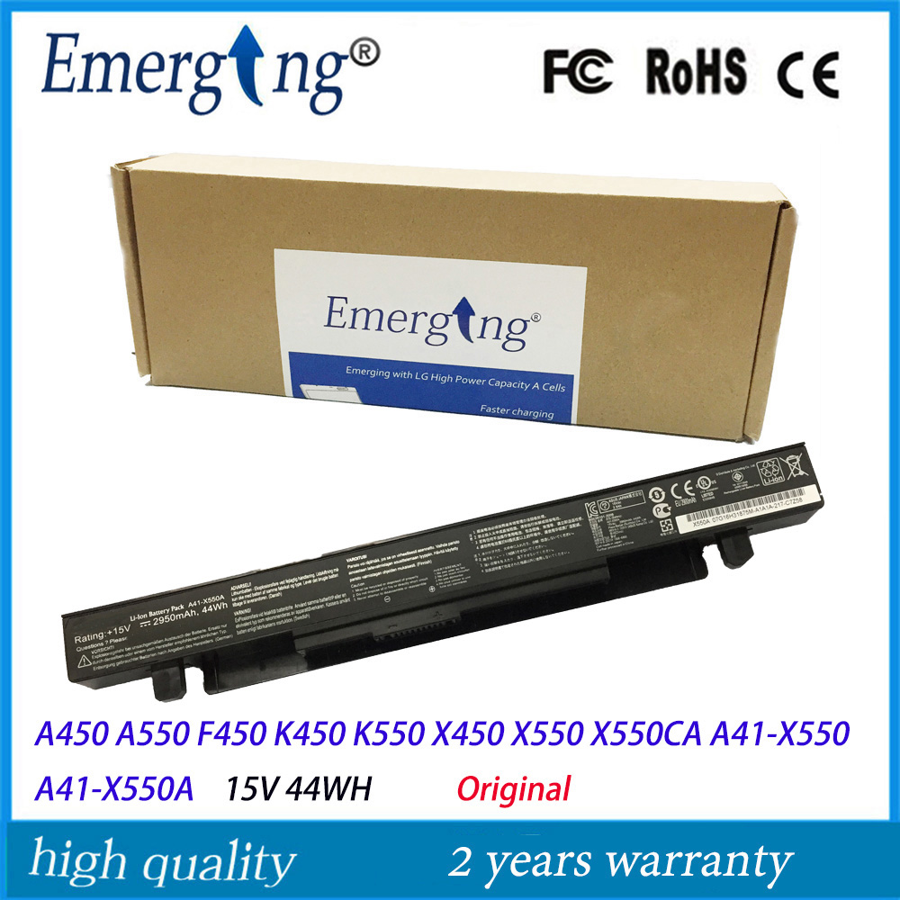 New Original 44Wh Laptop Battery for ASUS A41-X550 X450 X550 X550C X550B X550V X550D X450C X550CA A450 A550 A41-X550A <br>