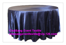 "Factory Direct Sale 20pcs Navy Blue 120"" Round Satin Table Cloth ,Satin Table Cloth For Wedding Event Decoration(China)"