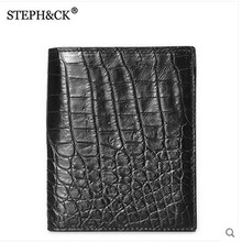 shidifenni crocodile Wallet men's casual men wallet vertical crocodile leather wallet man