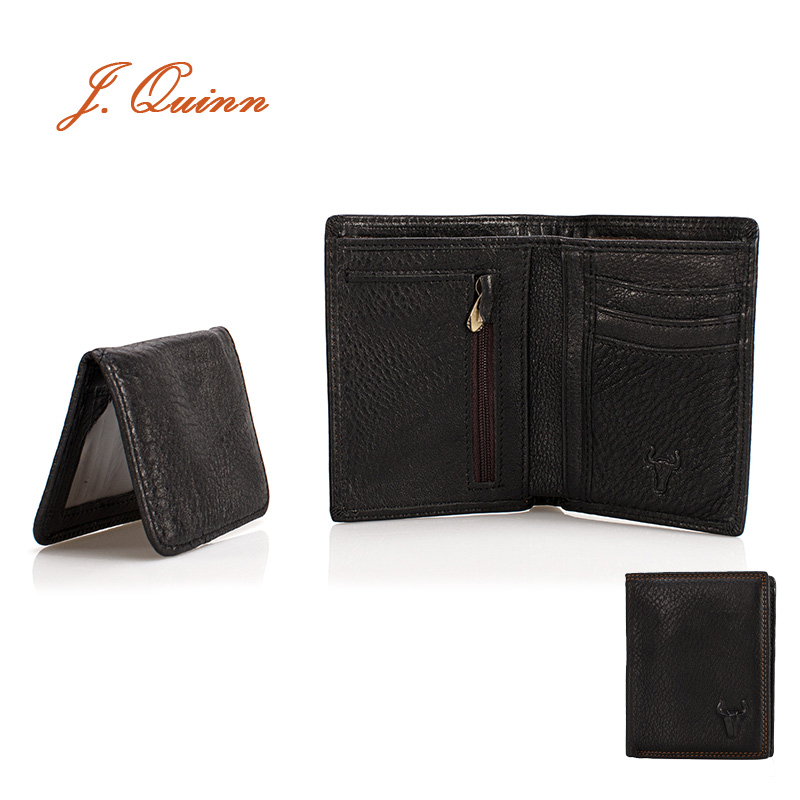 J.Quinn Man Wallet Short Small Men Genuine Leather Credit Cards Holder Business Cow Yellow Soft Wallets For Mens 2017 Famous<br><br>Aliexpress