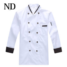 2017 New Arrival Chef Coat Western Restaurant Long Sleeve Autumn/winter White Jacket Fast Food Shop Cook Uniform Sales