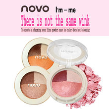 NOVO 3 Color Eye Shadow Wet And Dry Mineral Baked Eye Shadow Does Not Fly Powder Lasting To Create Shiny Perfect Eye Makeup