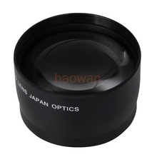 Buy 52mm 2.0x TELE Telephoto LENS 52 mm canon nikon D3000 D3100 D3200 D5000 D5100 D5200 18-55mm pentax sony fuji DSLR Camera for $14.95 in AliExpress store