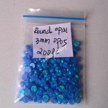 200pcs/lot   Free Shipping  3mm Round Cabochon Stone,  Synthetic  Dark Blue Round  Fire  Opal, Stone   Round Opal  Cabochon