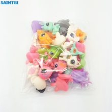 SAINTGI Toy bag 20Pcs/bag random Little Pet Shop LPS Toys Animal Cartoon Cat Dog Action Figures Collection Kids toys Gift(China)