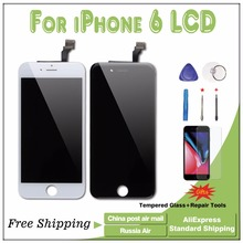 1PCS AAA Quality LCD Display + Touch Screen Replacement for iphone 6 6g black and white(China)