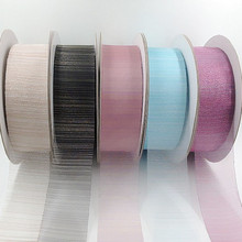 Buy 50m/lot 4cm Colorful Silk Tulle Organza Ribbon Packaging Gift Cake Box Wedding Birthday Party Decor Crafts Packing Supplies for $4.48 in AliExpress store