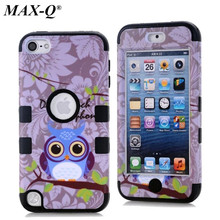 For Apple iPod Touch 5 Case 3 in 1 Back Cover Hybrid Defender Case Shockproof Durable Hard Cover Silicon + PC Skin Shell