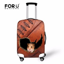 FORUDESIGNS Case Cover Thick Elastic Luggage Protective Cover With Zipper Suit For 18-30 inch Trunk Case Travel Suitcase Covers(China)