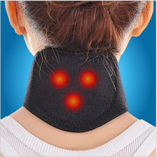 New Tourmaline Magnetic Therapy Neck Massager Cervical Vertebra Protection Spontaneous Heating Belt Body Massager(China)