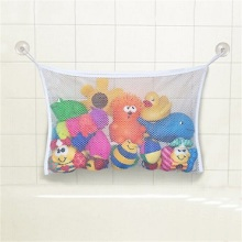 2017 Cute Baby Bath Time Toy Tidy Storage Suction Cup Bag Mesh Bathroom Organiser Net For Baby New Product