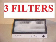 3 86880 HEPA FILTERS For Sears KENMORE Vacuums. Genuine Green Label Product AE0741