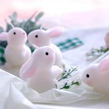 Rabbit shaped 3D candle mold silicone fondant cake mold The Chinese Zodiac salt carving mould party supplies(China)