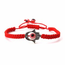 1pc fashion red string evil eye beads hamsa hand thread bracelet & bangle for women lucky red bracelet jewelry accessories