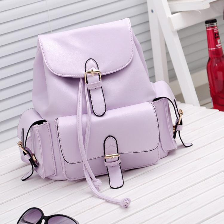 New European Casual candy colors backpack,Elegant sexy ladies school bags,Fashion leather mochila,noble women backpack<br><br>Aliexpress
