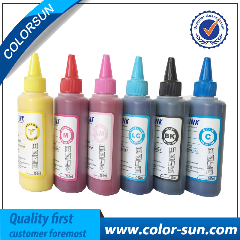 New Sublimation Ink 6 colors(CMYKLCLM) for Epson Printer use for phone case,T-shirt,Ceramics,Pottery,Mouse pad,Cup<br>