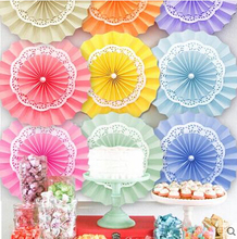 20cm Multi-Layer Tissue Paper Fans Wedding Backdrop Reception Decoration Birthday Party Supplies Valentine's day Decoration