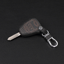 New Design Leather Key Case for Jeep Chrysler Wrangler Guide / Dodge Cool Granville / Chrysler 300C Key Dust Collector 3 button(China)