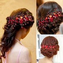 Fashion Hair Comb Clip Bridal Wedding Party Prom Hair Comb Clip Pearls Crystal Rhinestone Hair Pin Accessories