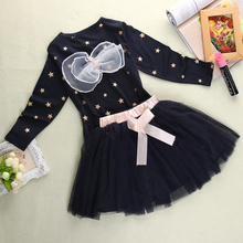 2017 Autumn Spring Children Clothing Girls Set Kids Clothes Brand Girls Clothing Suits Toddler 2 PCS T shirt + Skirt(China)