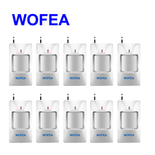 WOFEA 10 Pieces Wireless pir detector wireless 433MHz pir motion sensor For Home Security GSM Alarm System free shipping(China)