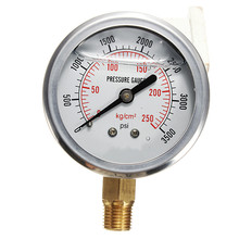 0-3500 PSI Hydraulic Liquid Filled Pressure Gauge New Arrival High Quality(China)