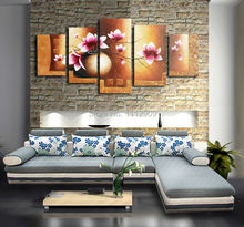 100%Hand-painted Abstract  Modern art Decorative Flower Group Oil painting on Canvas for home decor 5 panels huge art