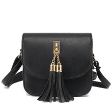Fashion 2017 Small Chains Bag Women Candy Color Tassel Messenger Bags Female Handbag Shoulder Bag Flap Women Bag Bolsa Feminina(China)