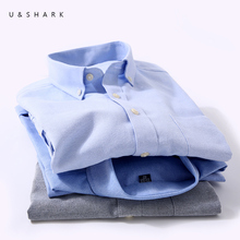 U&SHARK 2017 Oxford Mens Dress Shirts Brand Social Clothing Camisa Masculina Long Sleeve Shirt Casual Shirt Male Chemise Homme