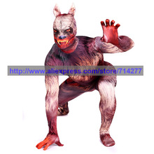 Custom Made Wolf Fullbody Lycra Spandex Zentai Animal Suit Halloween Cosplay Costume Christmas Gift
