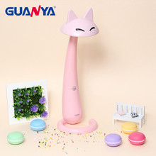 GUANYA 7W Dimmable LED Desk Lamp Light Touch Switch Animal Cartoon/Cat Eye Protection LED Table Light Lamp Reading Lamp Light(China)