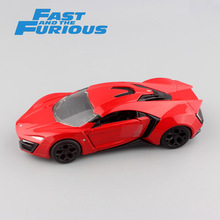 Brand 1/32 Scale 2017 miniature FAST and FURIOUS metal diecast model luxury Motors Lykan HyperSport race car auto toys for boys(China)