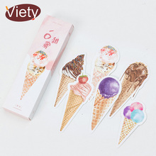 30 pcs/box Cute Ice cream style paper bookmark stationery bookmarks book holder message card school supplies papelaria