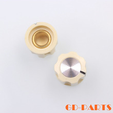 "10pcs 16*12mm cream ABS plastic rotary knob for guitar AMP effect pedal stomp box overdrive radio DJ mixer,1/4"" shaft hole"