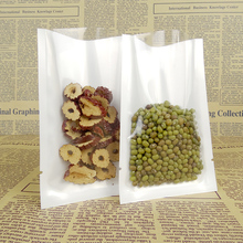 DHL 7*10cm Hot Sale Open Top Retail Poly White and Clear Vacuum Pouch For Coffee Bean Storage Heat Sealing Package Packing Bags(China)