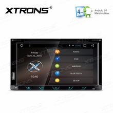 XTRONS 6.95 inch Android 6.0 HD Digital Multi-touch Screen 1080P MP3 Video 2 Din Car DVD Player GPS Navigate OBD+Steering Wheel