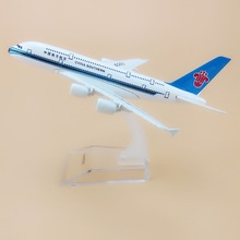 Alloy Metal Air China Southern A380 Airlines Airplane Model Airbus 380 Airways Plane Model Stand Aircraft Kids Gifts 16cm(China)