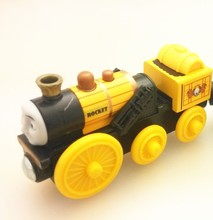 ROCKET Original Thomas And Friends Wooden Magnetic Railway Model Train Engine stephen Boy / Kids Toy Christmas Gift