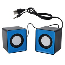 Speaker portátil Mini USB 2.0 alto-falantes Estéreo de Música para computador Desktop Notebook PC Laptop home theater caixa de som de para pc(China)