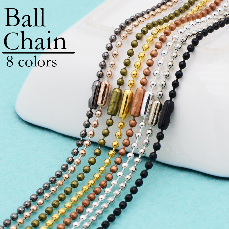 Plated Sterling Silver 8 mm Beads Ball String Chain Fashion Necklace  20 inch