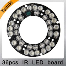 Yumiki Infrared 36pcs IR LED board for CCTV cameras night vision (diameter 60mm) for CS LENs(China)