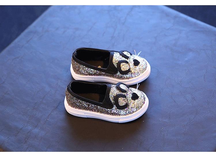 Cute Kids Girls Shoes 17 New Autumn Cartoon Bunny Cat Princess Flat Fashion Toddler Baby Girls Sneakers Children Casual Shoes 10