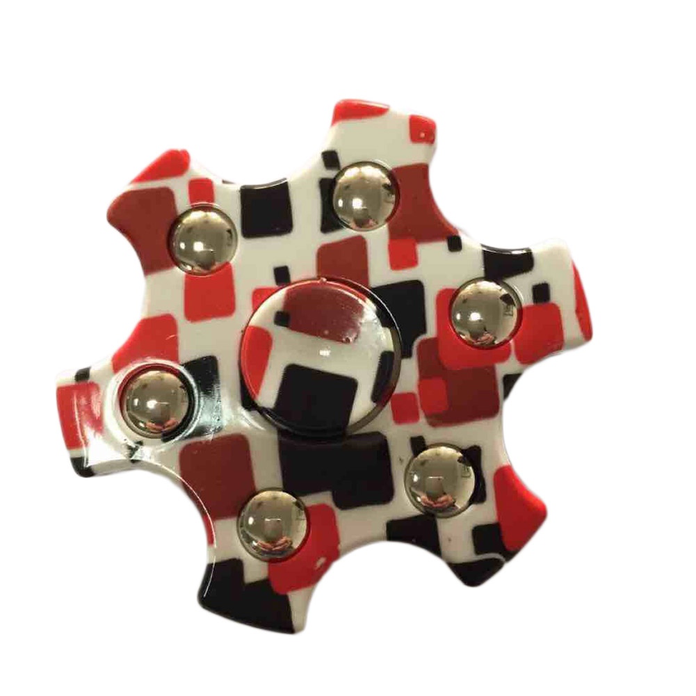 2017 HOT Hexagonal Tri-Spinner Fidget Toy EDC HandSpinner Anti Stress Reliever ADAD Six Star Spinner Hands