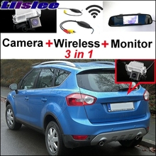 Liislee 3 in1 Wireless Receiver + Mirror Monitor Backup Parking System For Ford Kuga 2008~2017 Special Rear View Camera(China)