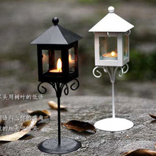 Zakka classic floor lantern wrought iron home decoration gift candle holder