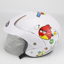 Clearance Sale Cheapest Price Kids baby kitty Helmets safe full face children motorcycle electric bicycle muffler cartoon(China)