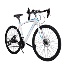 Mountain Bike New 700C Aluminum Fixed Gear Road Bicycle Road Cycling Road Bike 2 Disc Brake Outdoor bike 2017 Hot sale(China)