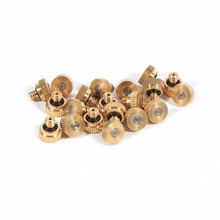 20PCS/Lot 10/24 Hole Thread Spray Nozzle Brass Stainless Steel Atomization Nozzle Greenhouse Flower Plant Garden Misting