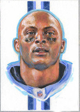 Original ART # Eddie George Titans Legend oil painting--100% hand painted 24 inch- best home Decor ART - FREE SHIPPING COST(China)