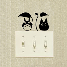 Chu Totoro  Decoration Switch Stickers Funny Cartoon Cat Wall Decal 2SS0264